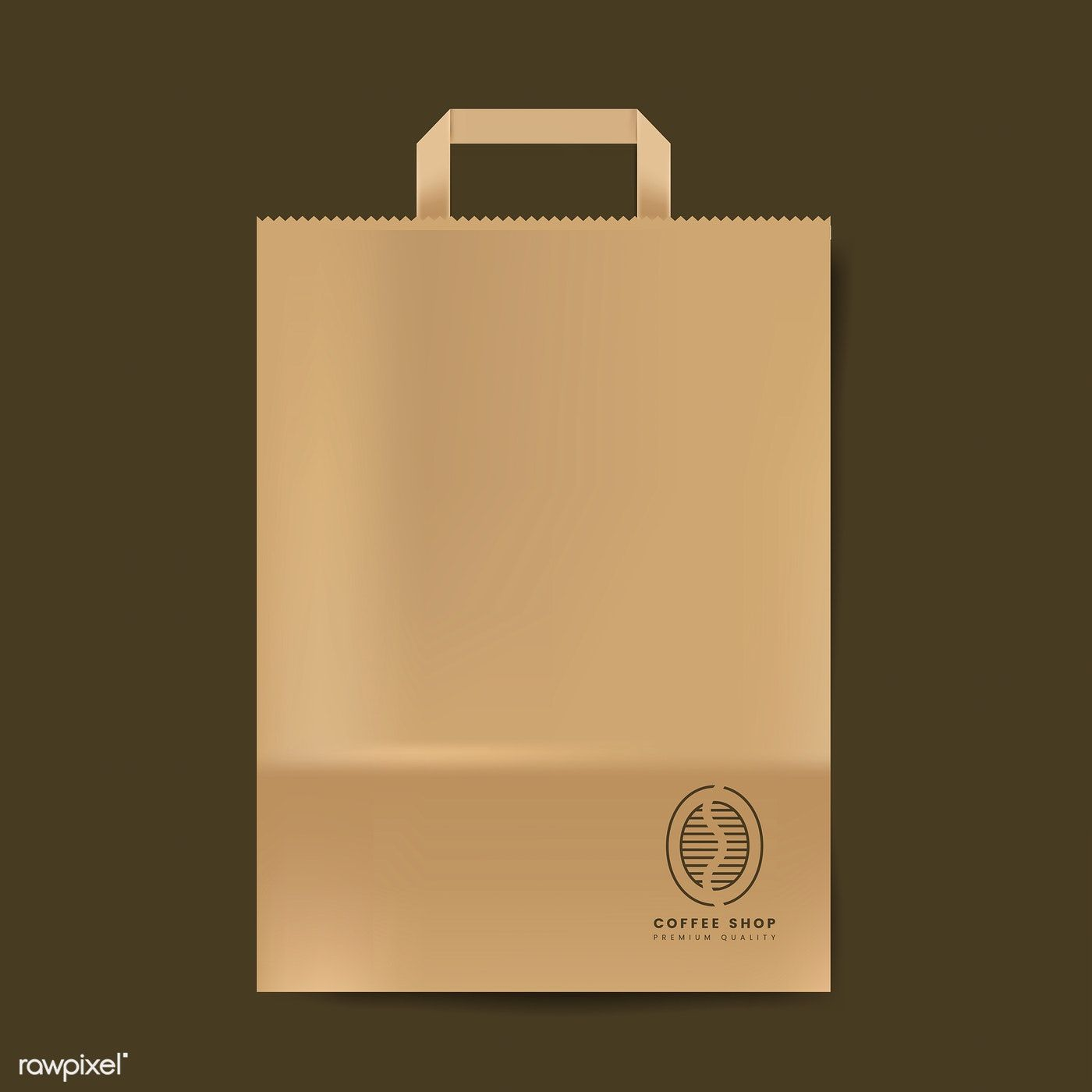 Download Paper Bag Mockup Isolated Vector Free Image By Rawpixel Com