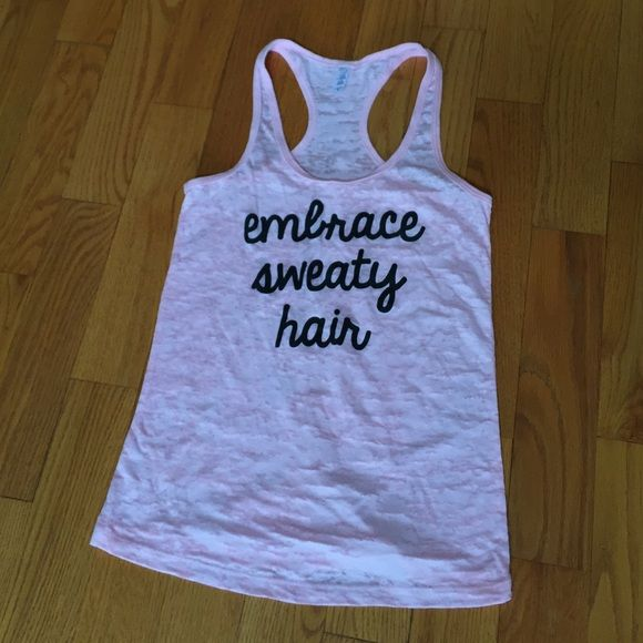 Workout Tank Top Cute racer back workout tank top. Soft. Pretty shade of pink. Fits a little small. Next Level Tops Tank Tops