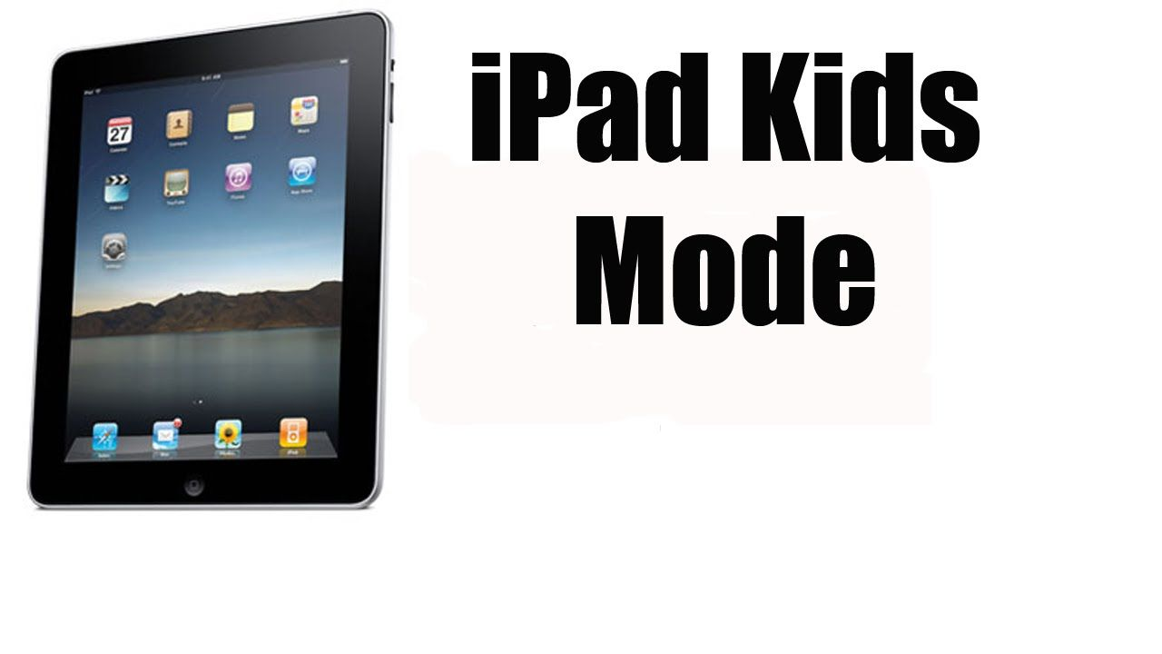 How to lock an app on your ipad or ipad kids mode or