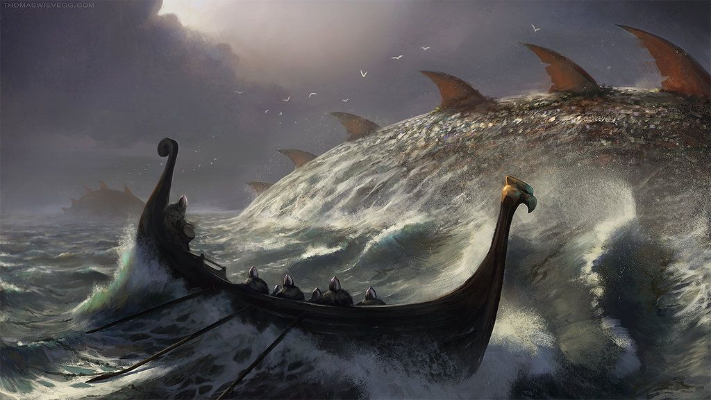 Ominous Ocean by thomaswievegg.deviantart.com on @DeviantArt