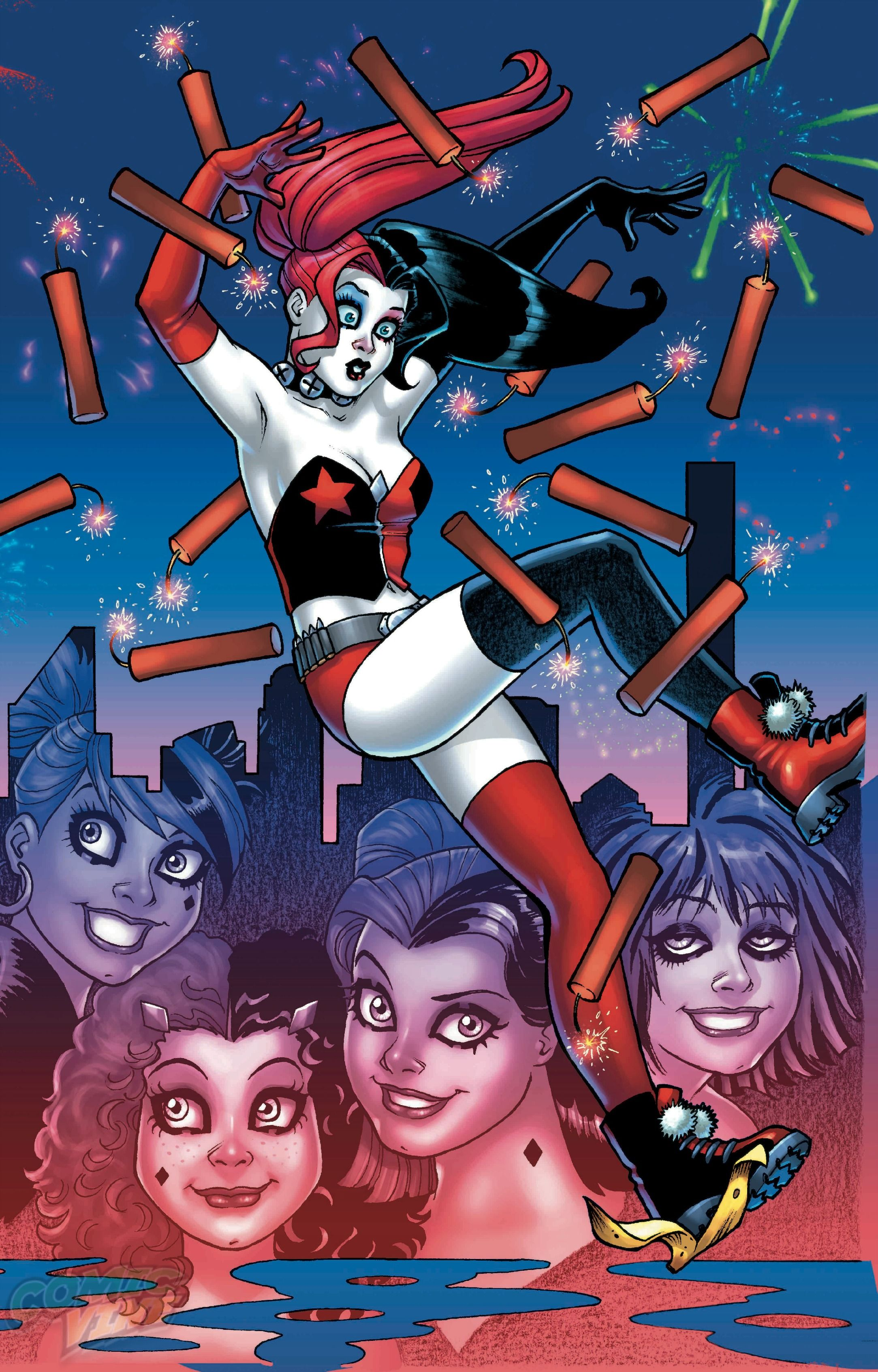 Harley Quinn #16 Right Hand Variant Cover by Amanda Conner