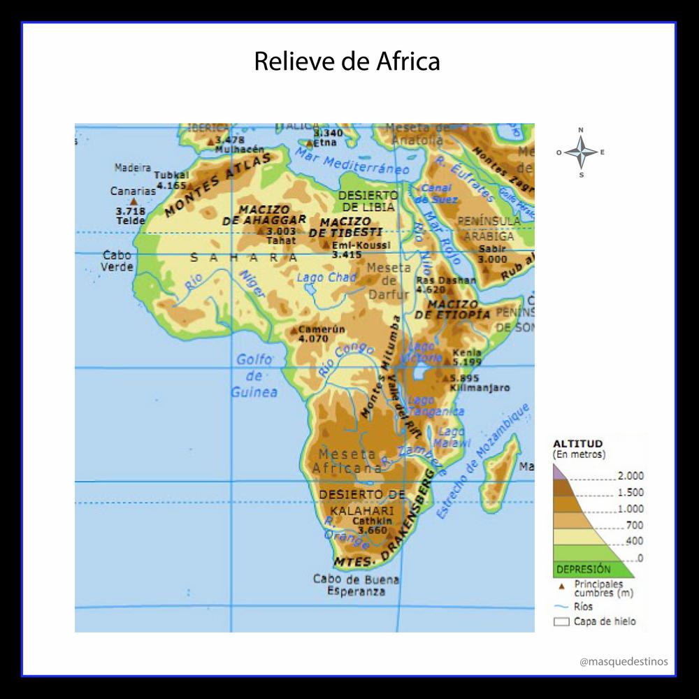 Mapa De Relieve De Africa Mapa Político Del Mundo Africa Mapa Mapas
