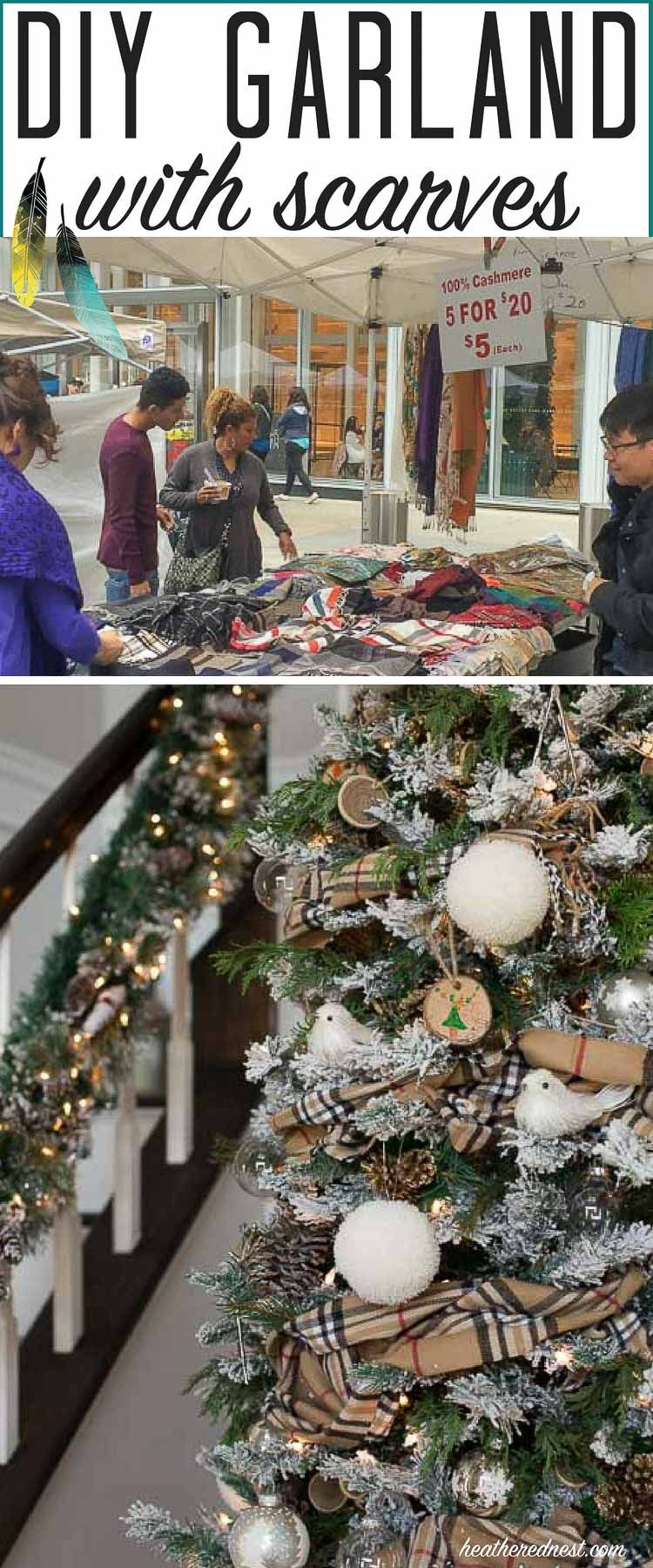 A Cozy Unique Garland Idea Bundle Your Tree With Scarves Diy Garland Christmas Decorations Christmas Diy