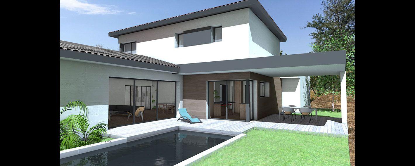 Maison Contemporaine A Etage Partiel Avec Grande Terrasse