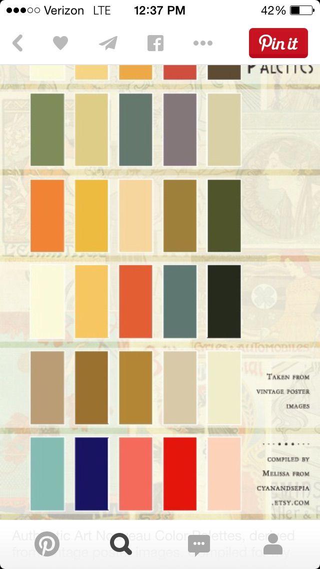 Art Deco Color Palette