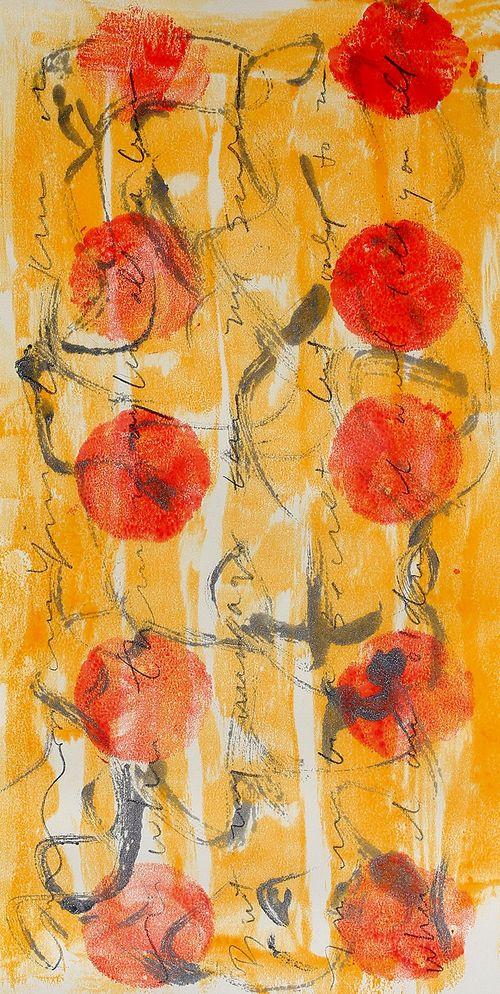 Savage Whispers 1 Encaustic Monotype By Lisa Jonesmoore Art
