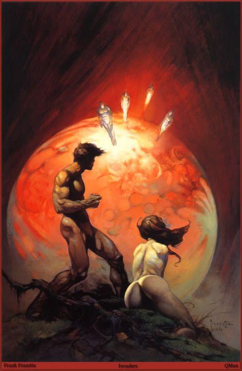 Invaders - Nudez espacial de Frank Frazetta.