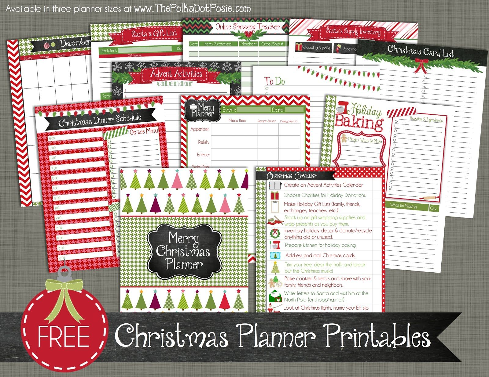 Download Our New Christmas Planner Pages And Get Organized For The Holidays