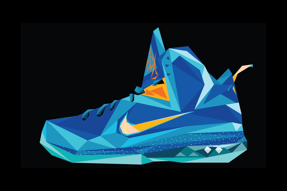 a2a2f9e0d5c9 A-Decade-of-LeBron-James -Signature-Nike-Footwear-Illustrated-10  Illustration inspiration