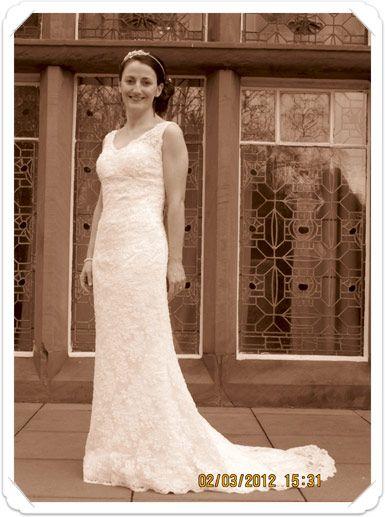 Liz (Glasgow), wearing Kitty & Dulcie\'s City Slicker bridal gown ...