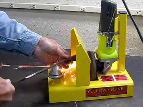 Yellow Hornet Mower Blade Sharpener Youtube Tools