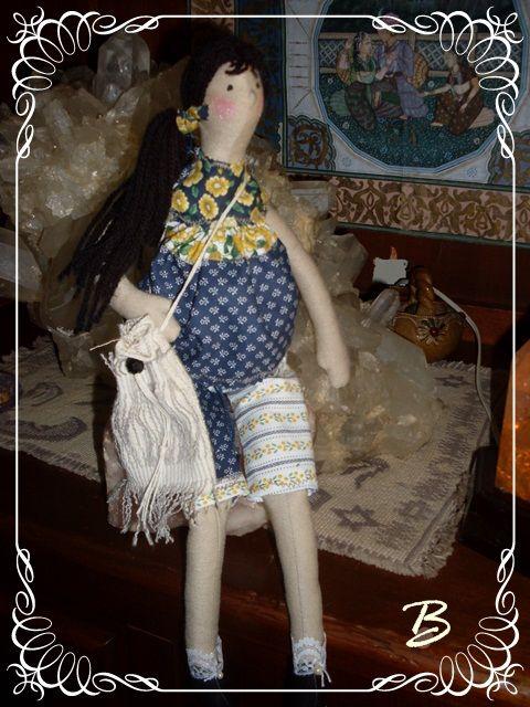 ♥Baú da Vovó♥Atheliê♥BeKa♥: tilda gravida estampinha com azul