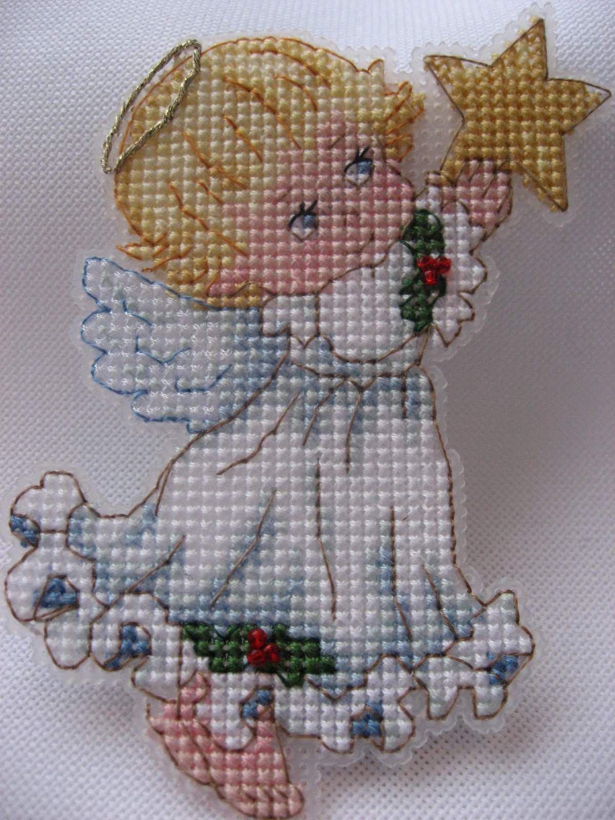Картинка ангелочка для вышивки