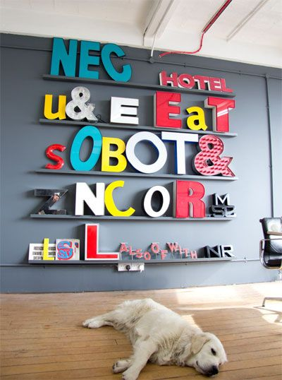 Post sobre direcciones de letras vintage gigantes para decorar