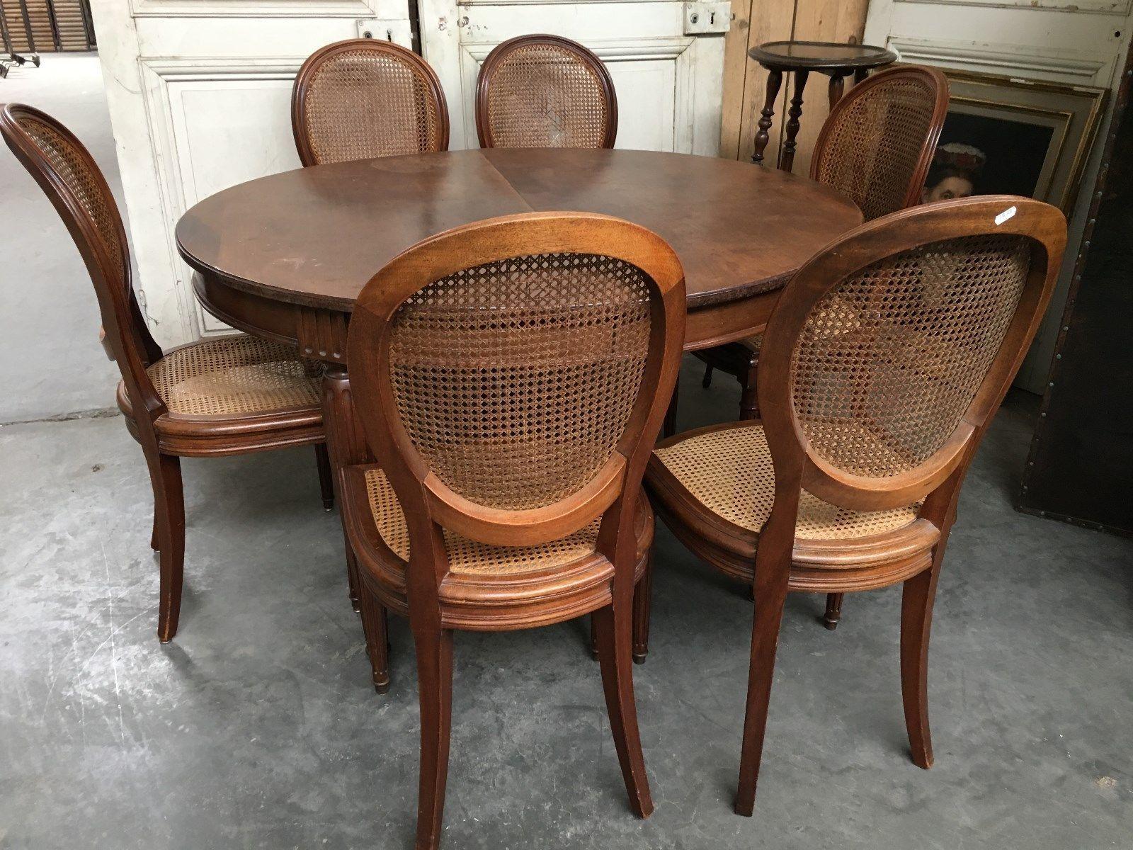 table et six chaises en acajou table