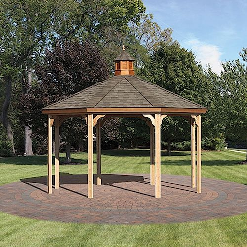 National Metal Industries Bel Air Gazebo With Cupola And No Bottom Rails And No Floor