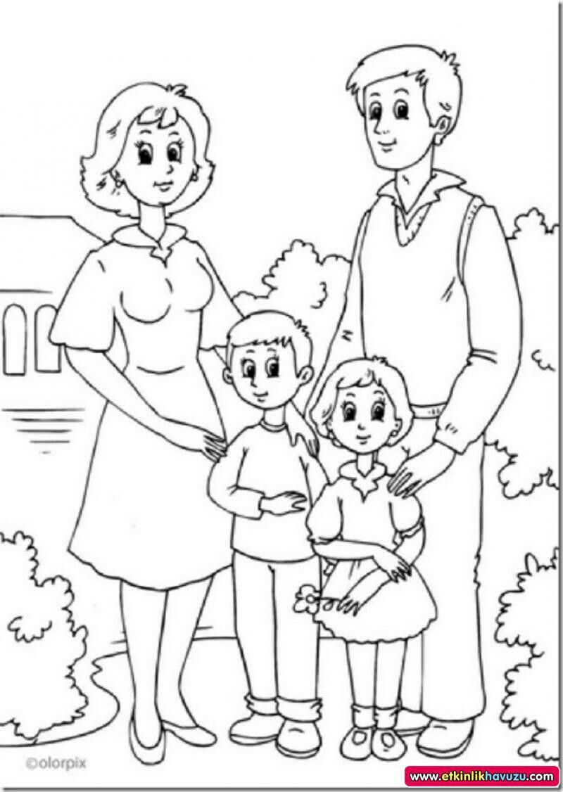 Pin By Aslihan Yumak On Adap Family Coloring Pages Family Coloring Fathers Day Coloring Page