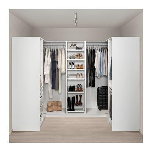 PAX Corner wardrobe white 63 1/8/106 5/8/63 1/8x79 1/4
