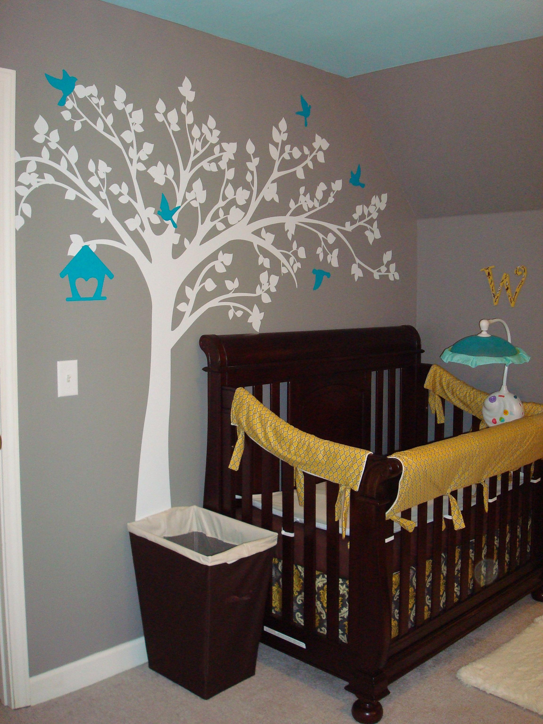 Yellow Gray Turquoise Nursery