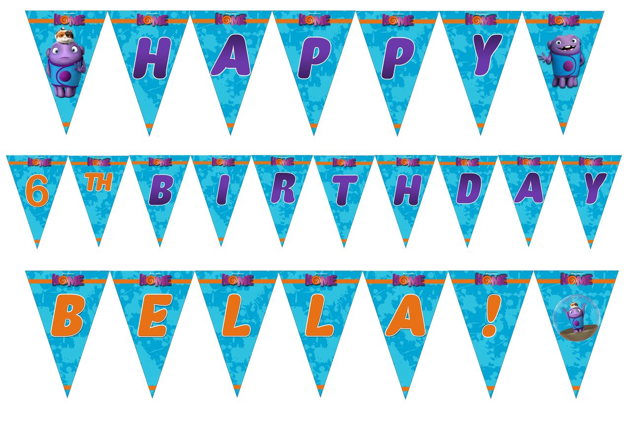 Dreamworks Home Movie Birthday Banner Dreamworks Banners and