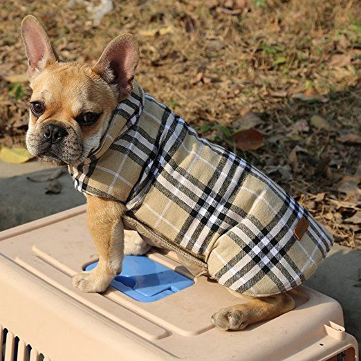 705c0c1a0b1c Amazon.com : Kuoser Cozy Waterproof Windproof Reversible British style  Plaid Dog Vest Winter Coat