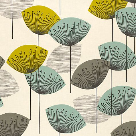 Sanderson dandelion clocks pvc tablecloth fabric - Sanderson dandelion clocks wallpaper ...