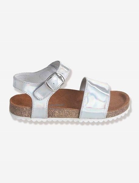 5766bde3 Sandalias brillantes para niña - Plateado+Rosa fucsia - 1 | Zapatos ...
