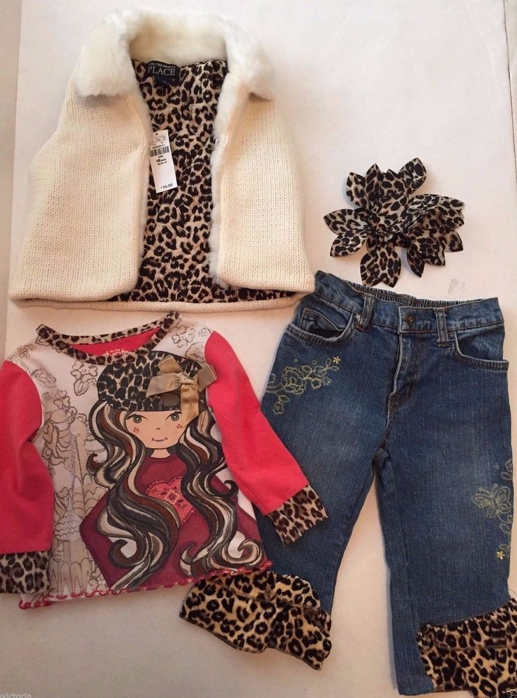 Brand Name ( Lot of 4 ) - Vest, Pants, Shirt, & Hair Accessory 18 months Outfit  $25.99 #ChildrensPlace #DressyEverydayHoliday