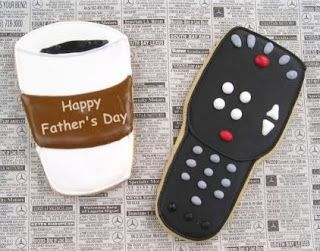 custom hand decorated cookies: Fathers Day Cookies!!!