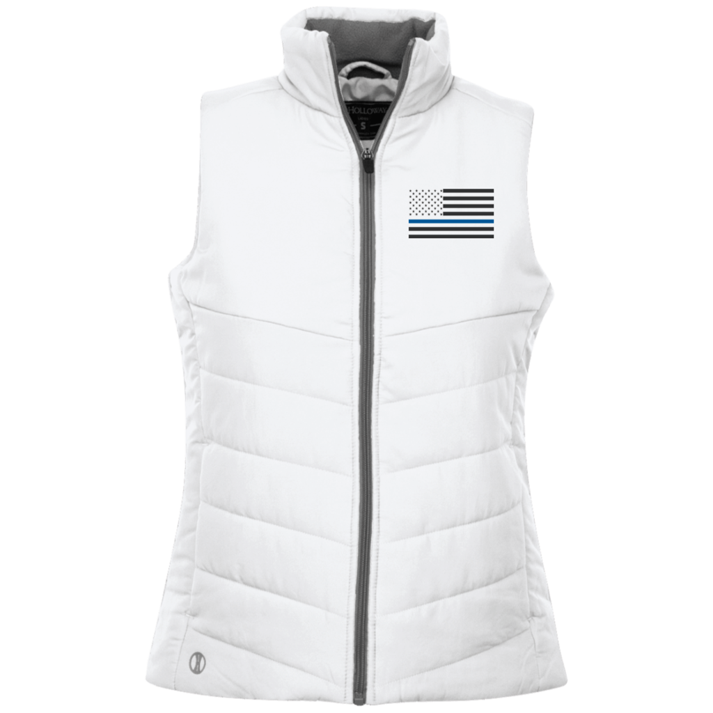 Lqv Thin Blue Line Jacket Quilted Vest Quilted Ladies Vest Jacket