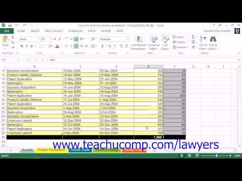 Learn about Using the Law Firm Financial Analysis Worksheet in