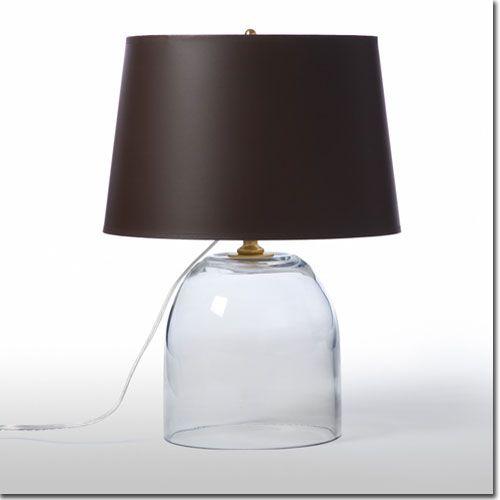 Glass Dome Table Lamp - All Furniture & Lighting - Barbara Cosgrove - Lighting @ Pfeifer Studio- Detail
