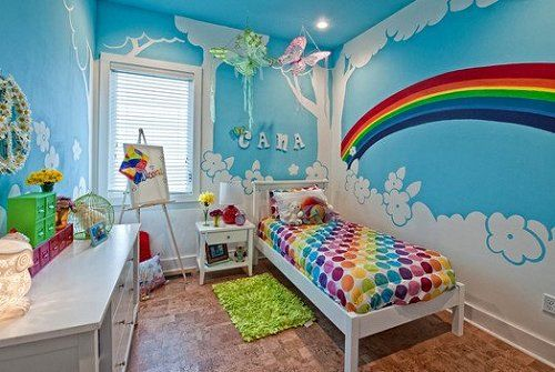 Playing Under the Rainbow with Rainbow Kids Room Decor