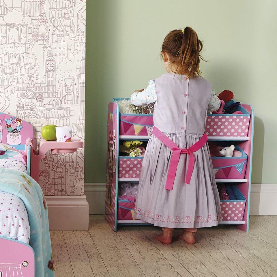 Organizador de juguetes Minnie Mouse Disney ideal para el uso de almacenamiento de juguetes y juegos, se acabó el desorden en el #dormitorioinfantil . #bainba #mueblesminniemouse #jugueteros
