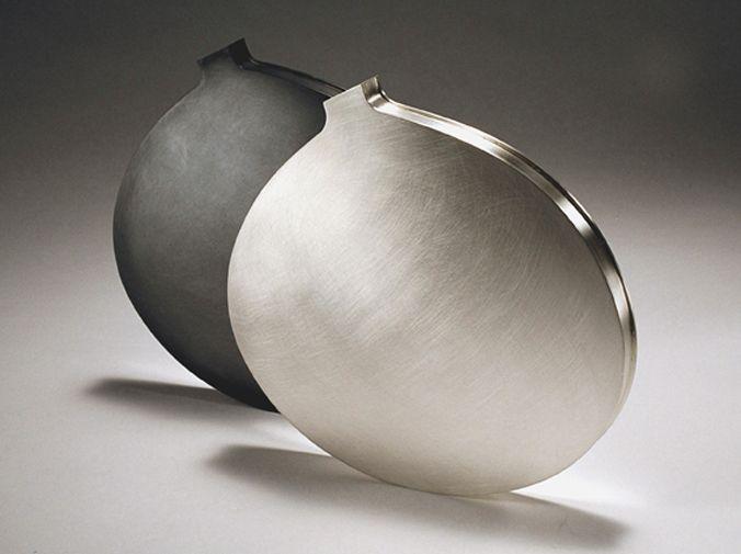 angela cork modern silverware 2 slim vases