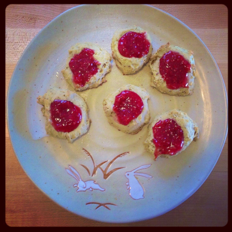 Vegan raspberry jam thumbprint cookies | Vegan desserts | Pinterest