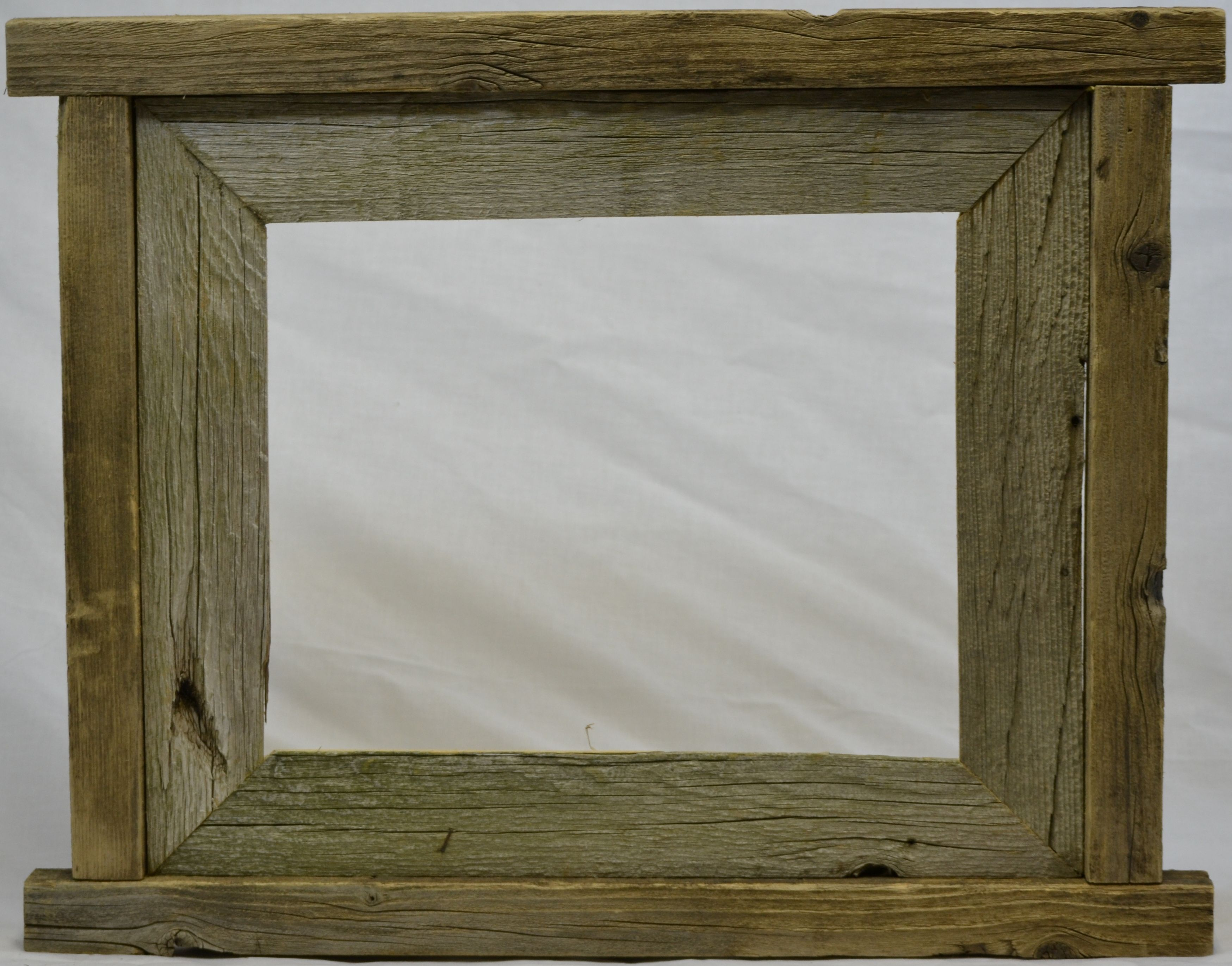 Rustic barn wood picture frame | Picture Frames | Pinterest