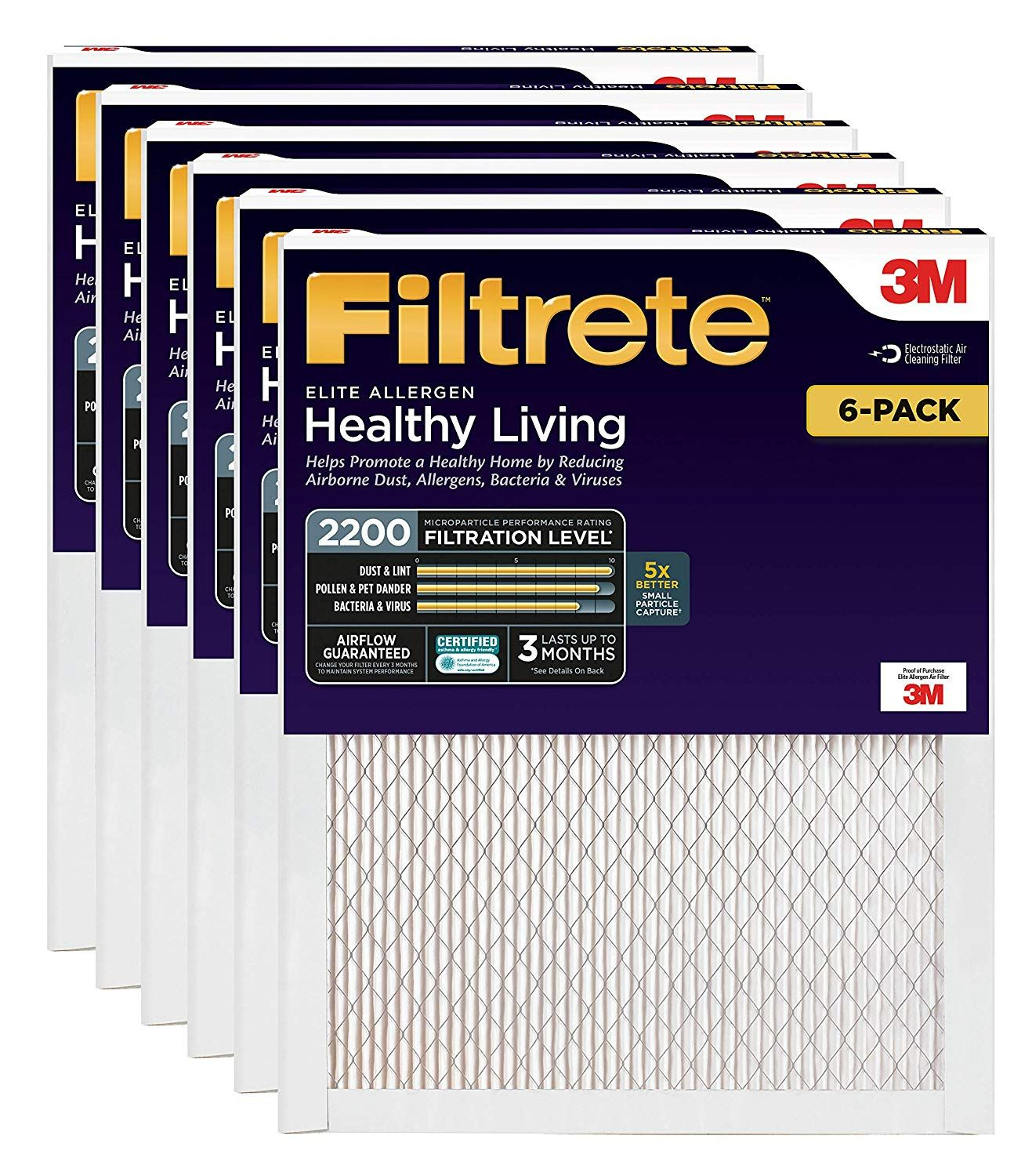 Filtrete Ea01 6pk 1e Air Filter 16 X 25 X 1 White 6 Want Additional Info Click On The Image This Is An Affiliate Link Filters Allergens Healthy Living