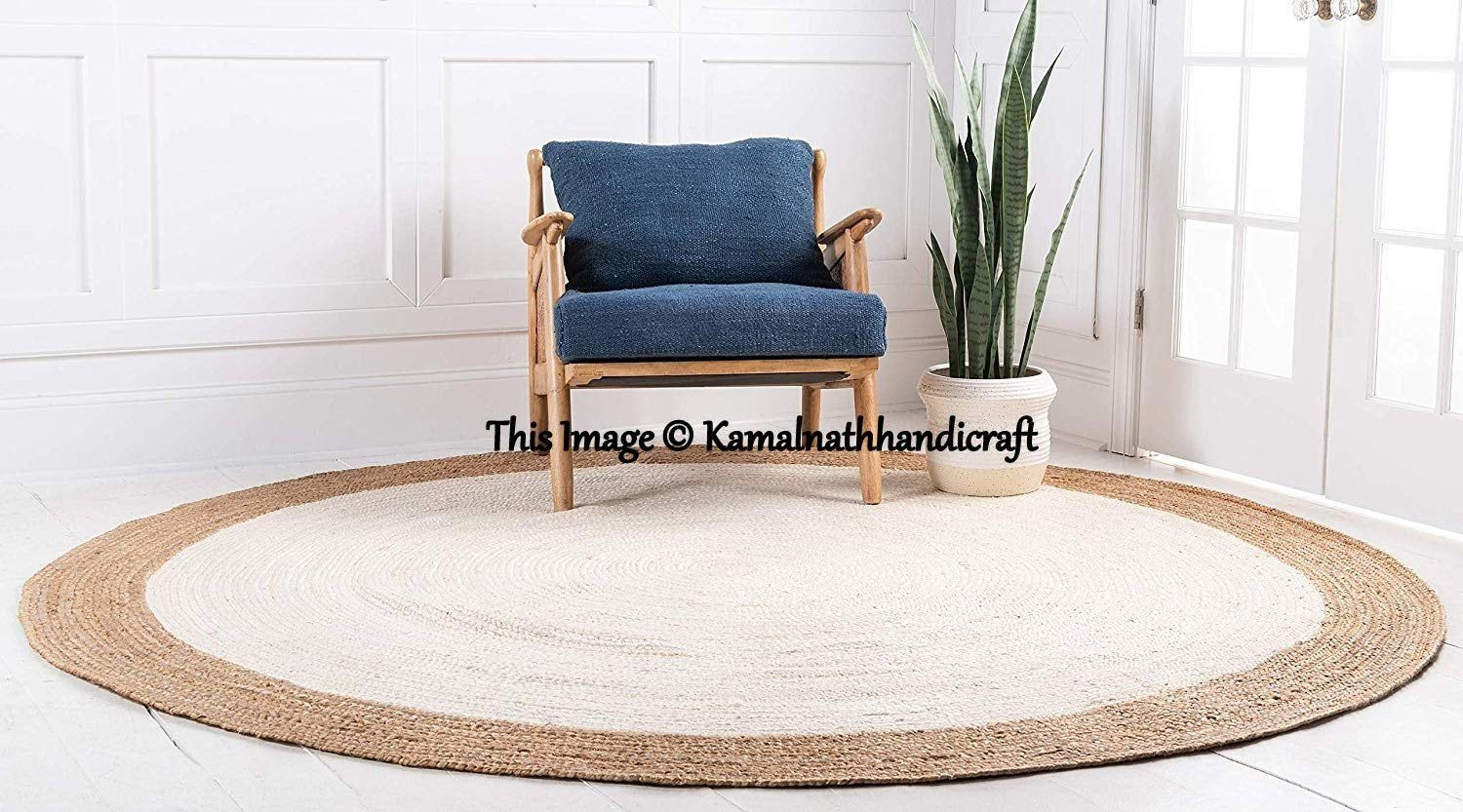 2 Feet Hand Braided Bohemian Jute Area Rug Round Rag Rug Home Decor Rugs Shape Circle Bohemian Home Round Shape Rug Natural Jute Round Rag With Images Natural Jute Rug Jute