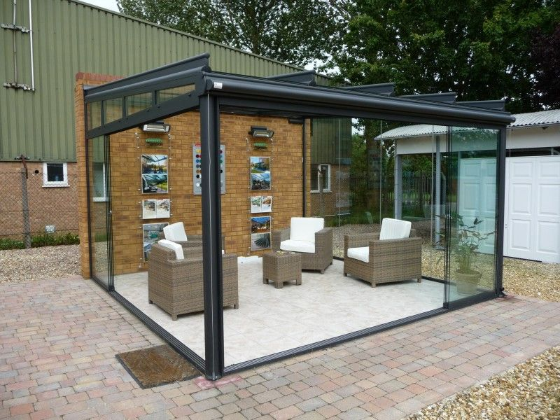 Lowes Awnings 2 Post Support Glass Garden Room | Interior Design | Glass