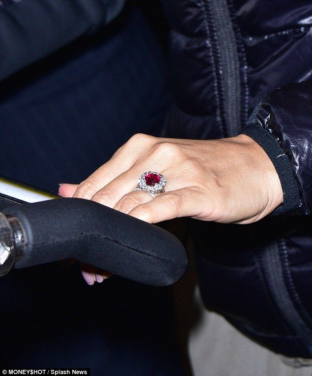 Eva Longoria Shows HUGE Ruby Engagement Ring At LAX With New Fiance