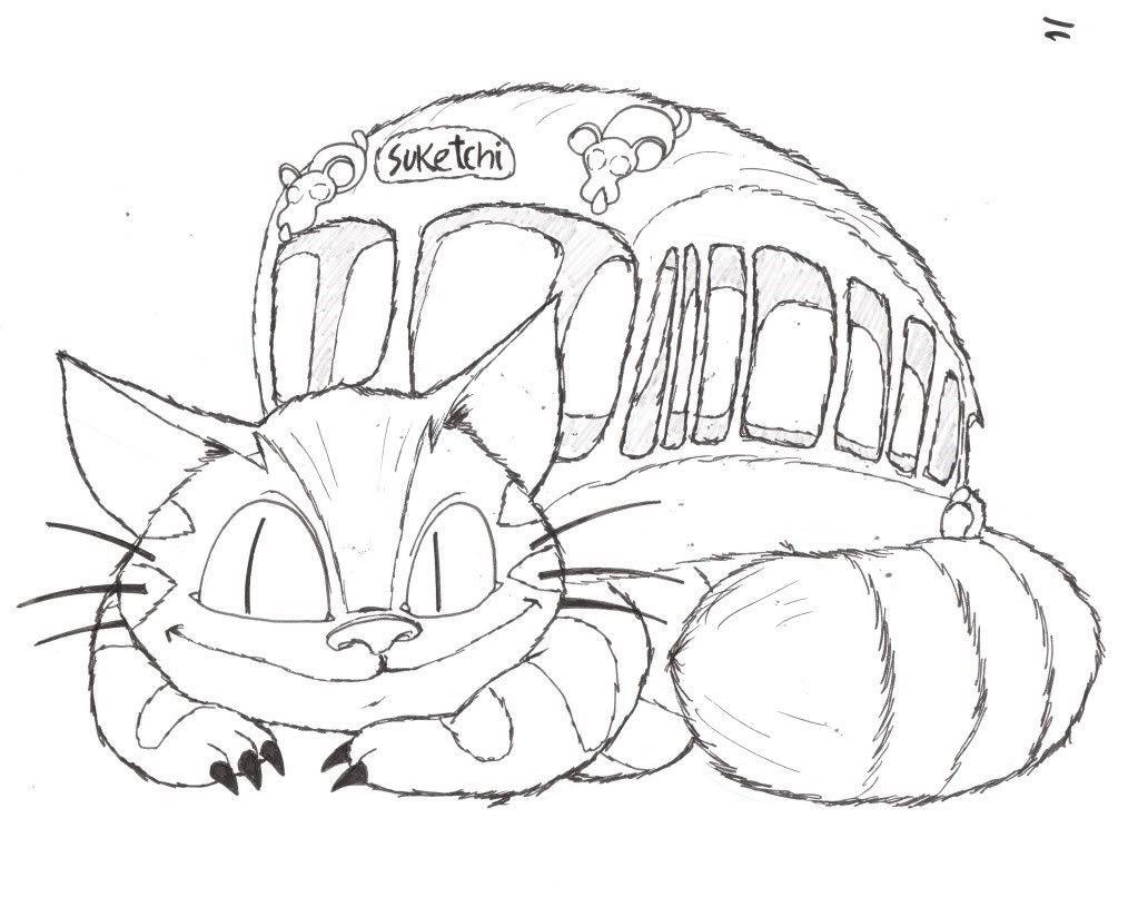 Studio Ghibli Coloring Pages Sketch Coloring Page Totoro Drawing Studio Ghibli Characters Studio Ghibli Tattoo [ 806 x 1023 Pixel ]
