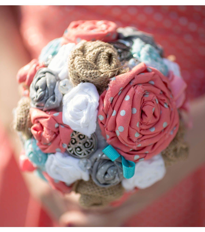 Fabric Flower Bouquet | DIY Wedding Ideas | Wedding Planning with ...
