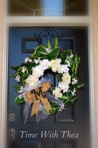 Two In One Front Door Wreath - It's two wreaths in one! So fun to make and perfect for fall.