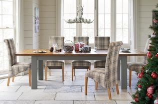 HartfordR Grey Double 6 8 Seater Extending Dining Table From Next