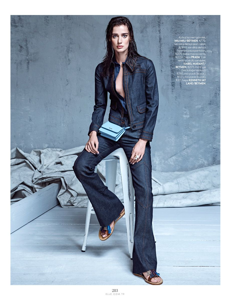 Denim Couture  Marizanne Visser By Koray Parlak For Elle Turkey May 2015 8f9e7b8773