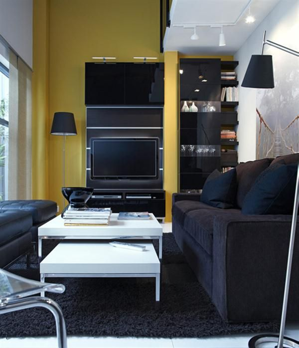 A Small Living Room Apartmentsilikefileswordpress 2011 10 Modern Black Ikea Design And Decorating Ideas