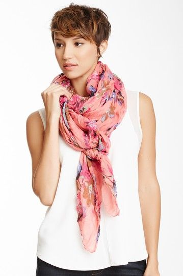 Brushed Cotton Floral Scarf on HauteLook