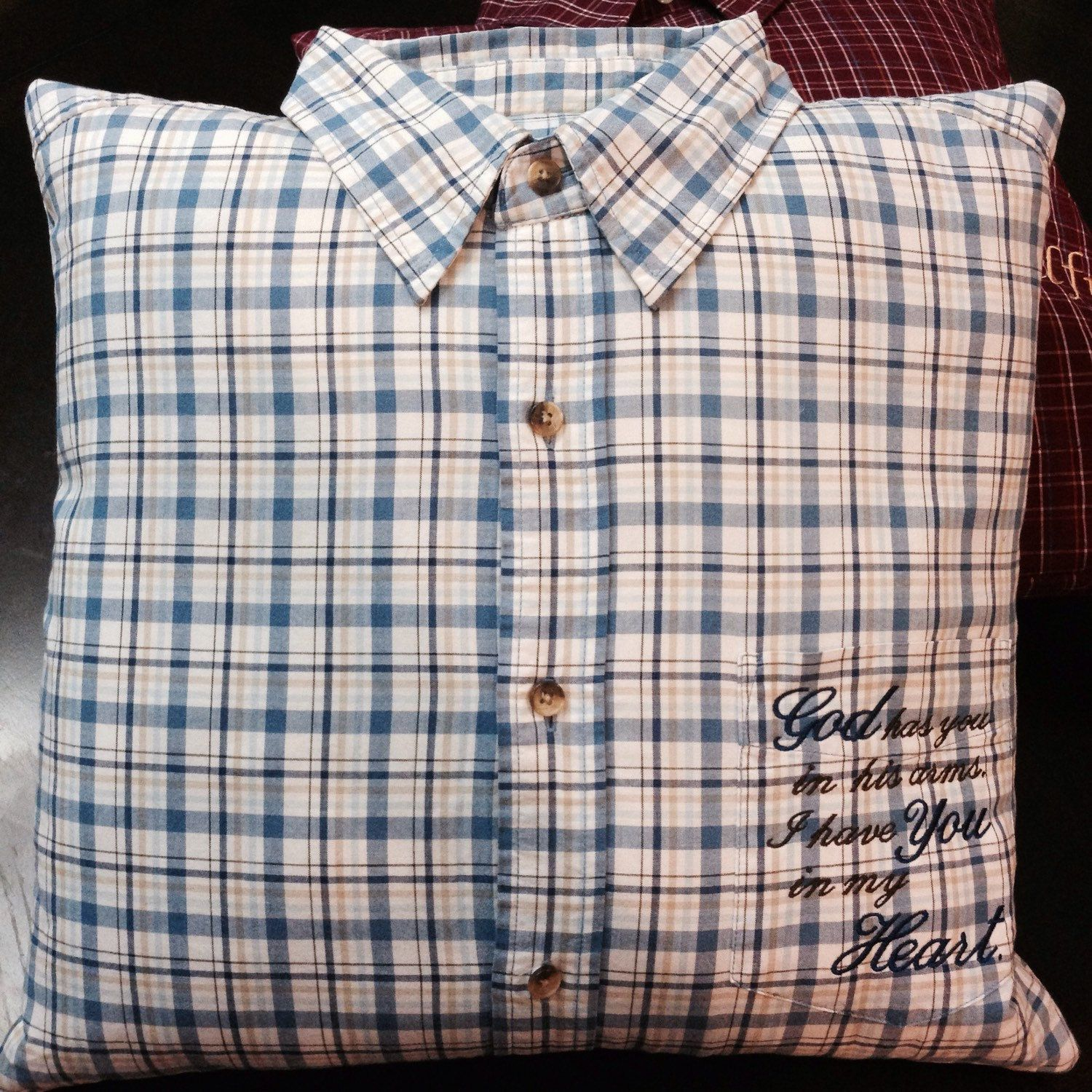 How to sew a memory pillow out of a shirt