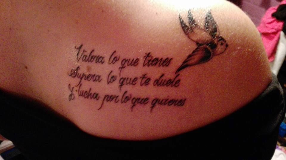 Frase Y Ave Tattoo Pinterest Tattoos Tatuajes And Sexy Tattoos